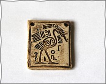 RESERVED BIRD rustic tribal earthy pendant